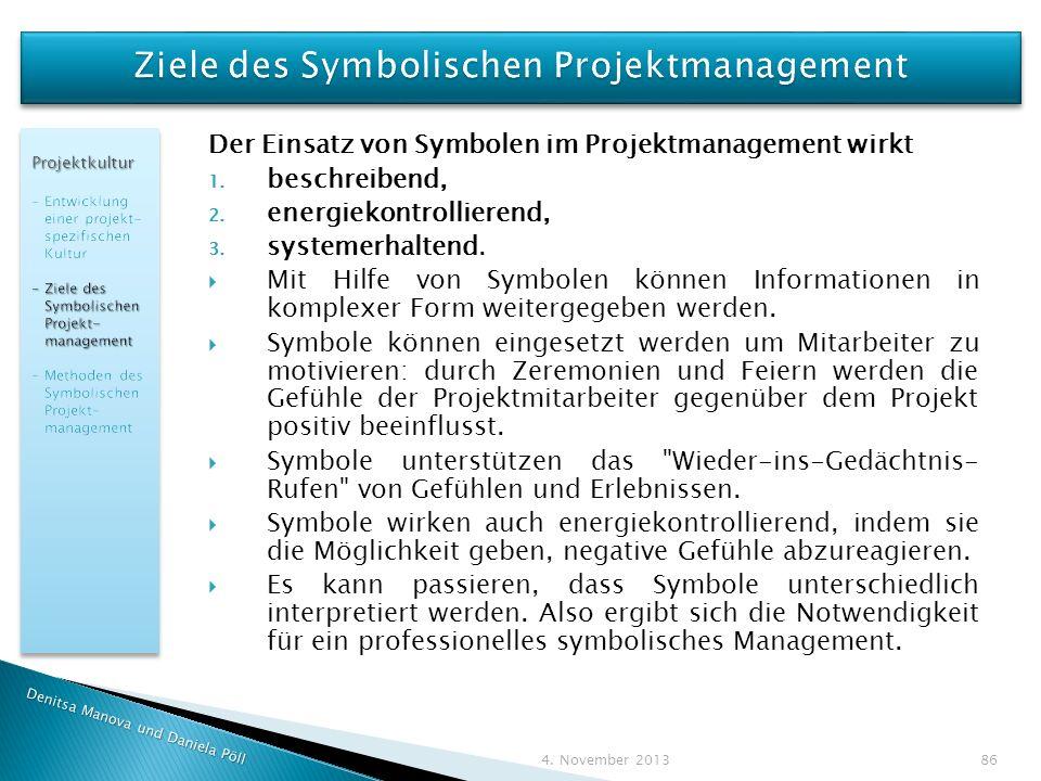 Ziele des Symbolischen Projektmanagement