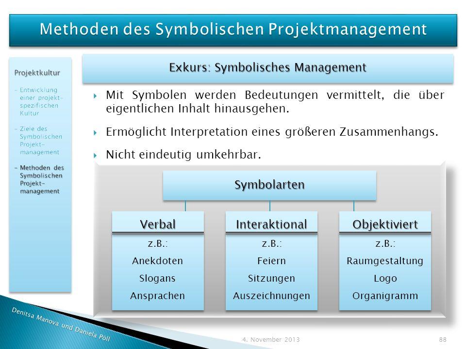 Methoden des Symbolischen Projektmanagement