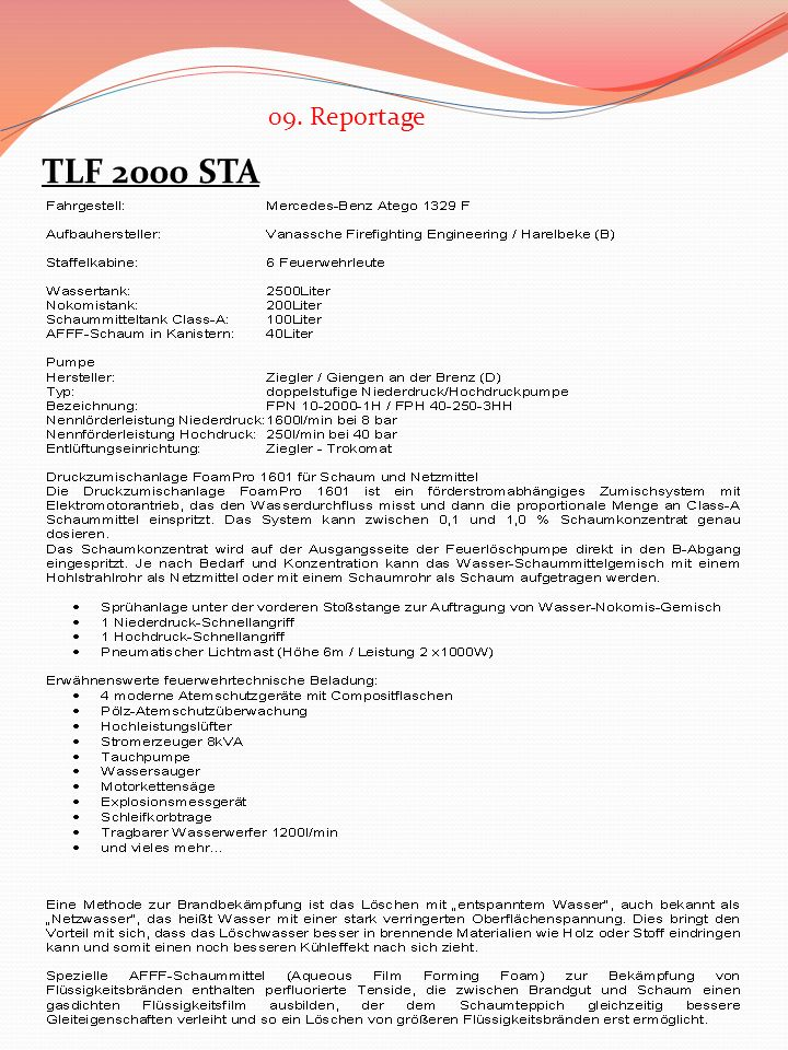 09. Reportage TLF 2000 STA