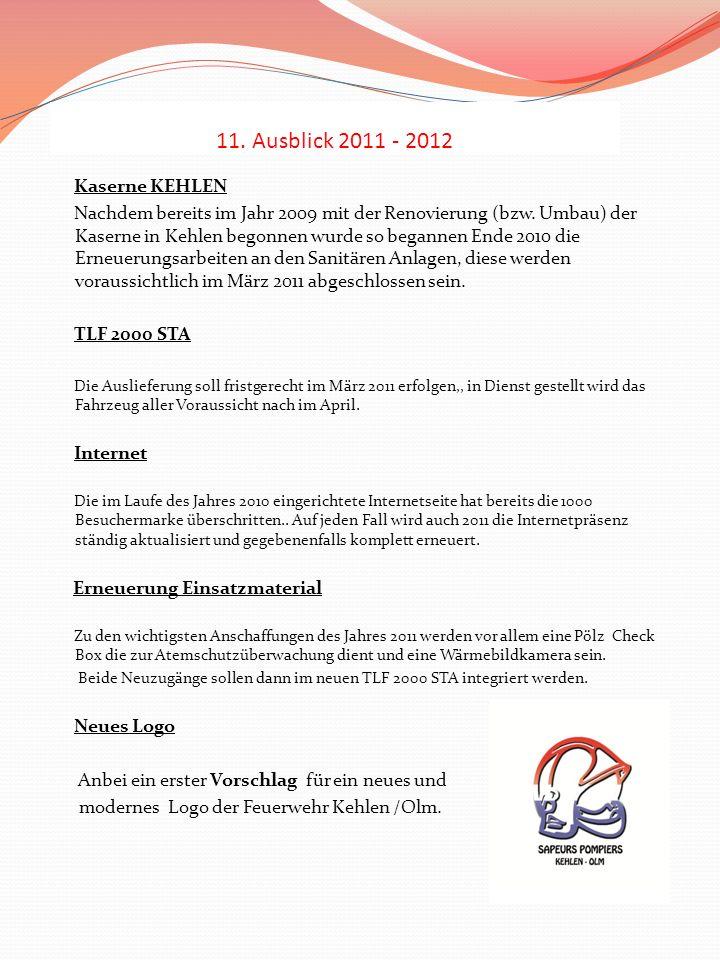 11. Ausblick 2011 - 2012 Kaserne KEHLEN