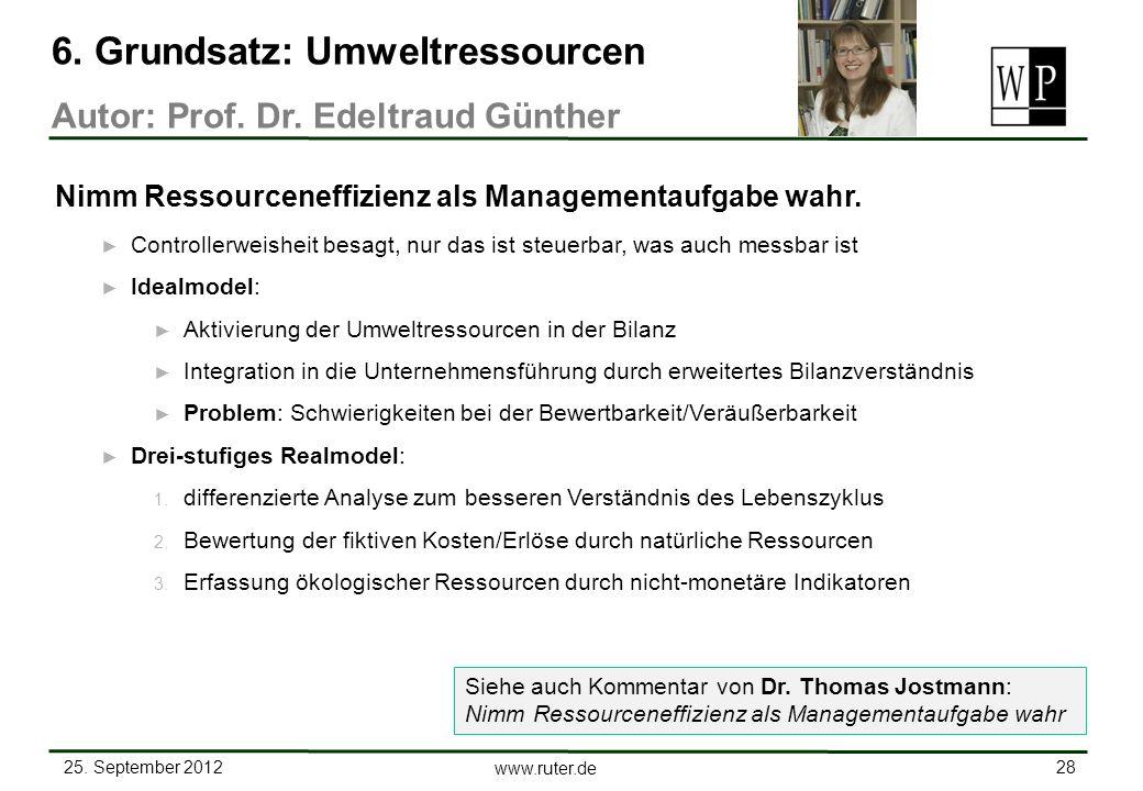 6. Grundsatz: Umweltressourcen