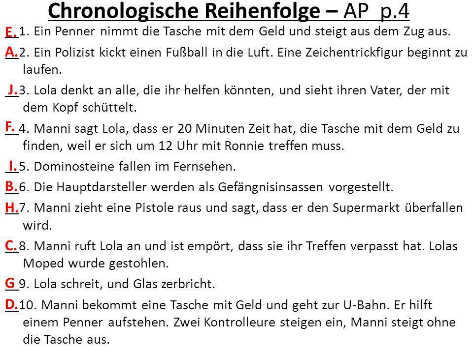 Chronologische Reihenfolge – AP p.4