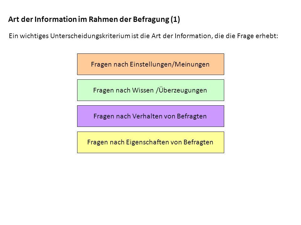 Art der Information im Rahmen der Befragung (1)