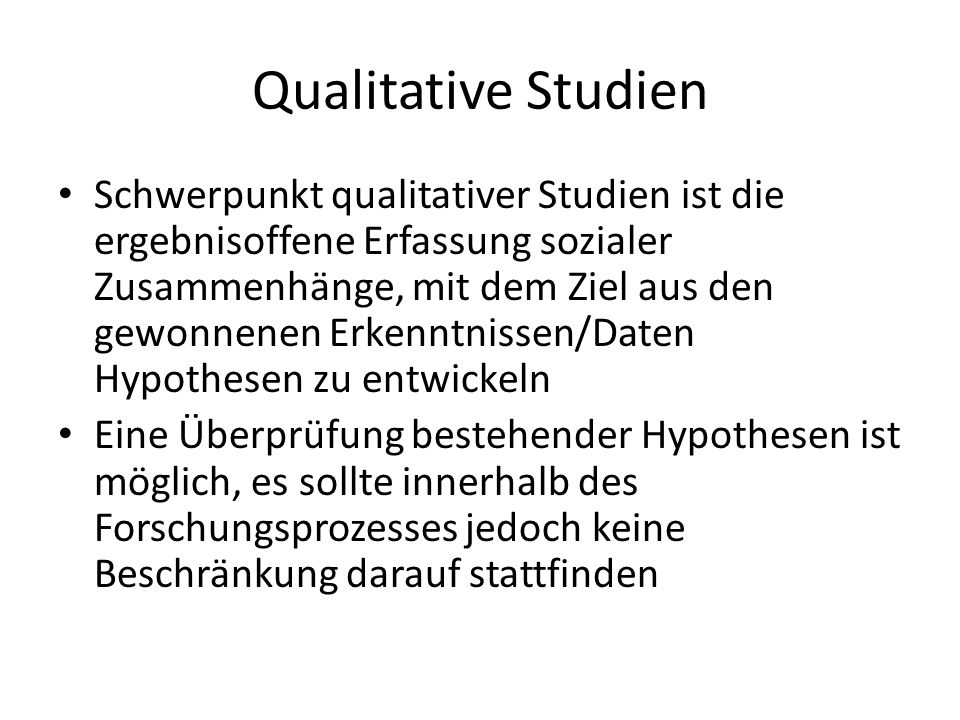 Qualitative Studien
