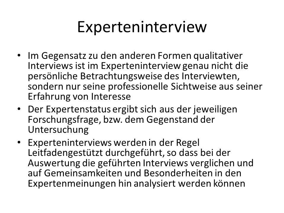 Experteninterview