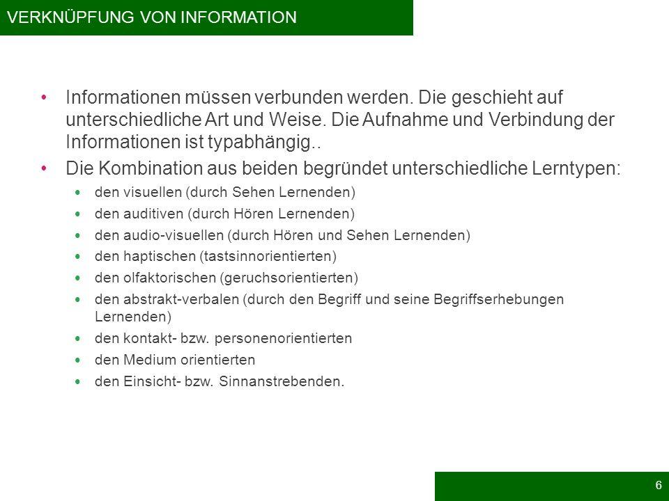 Verknüpfung von Information