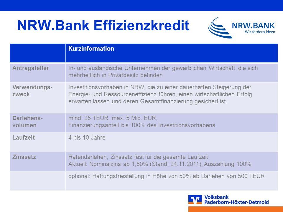 NRW.Bank Effizienzkredit