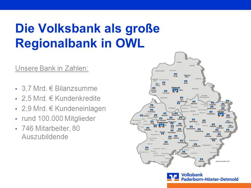 Die Volksbank als große Regionalbank in OWL