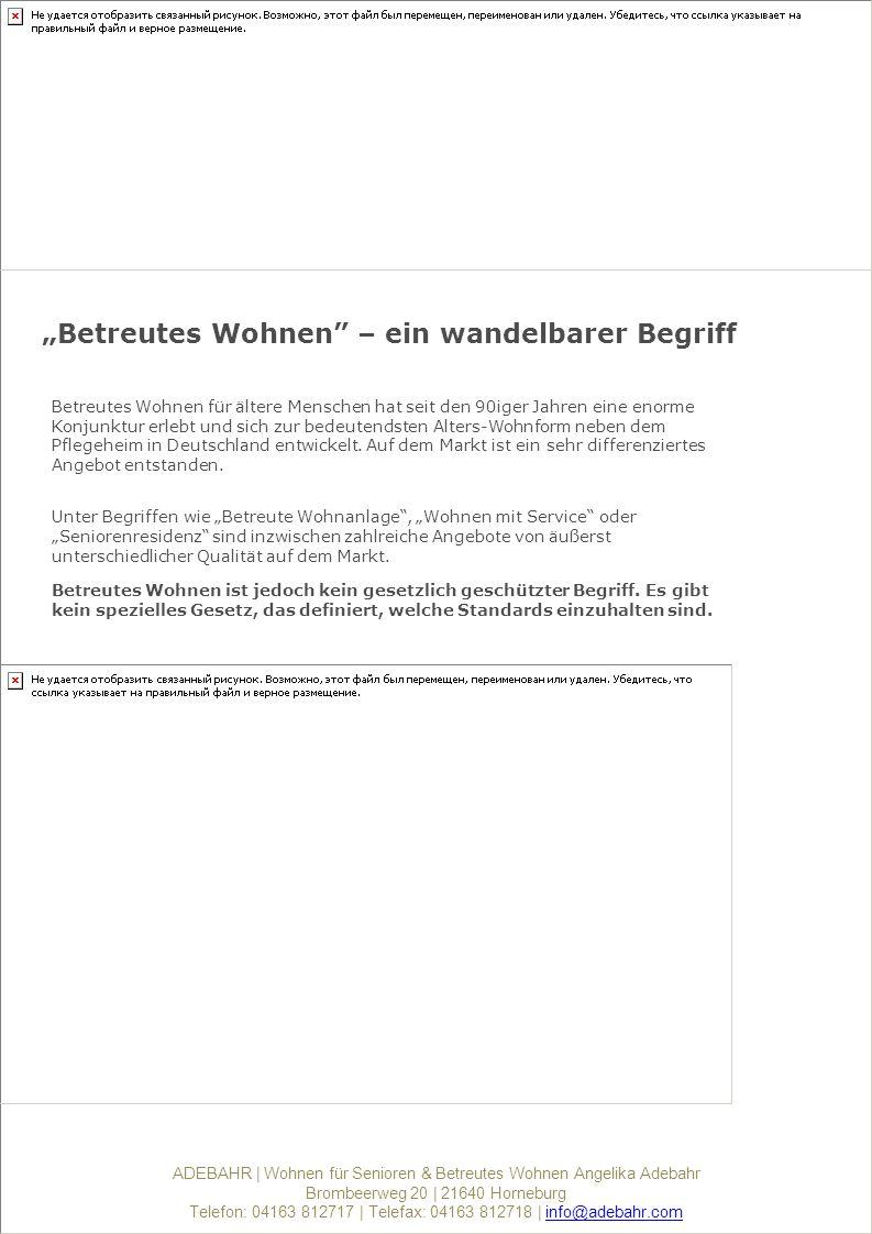 """""""Betreutes Wohnen – ein wandelbarer Begriff"""