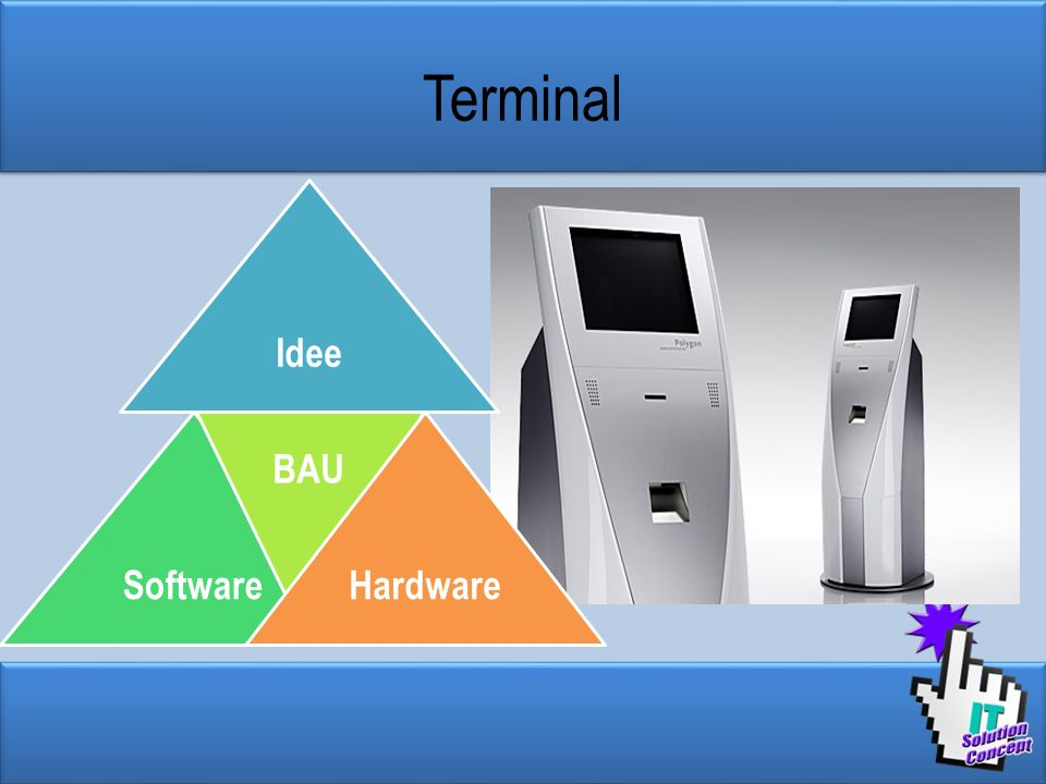 Terminal Idee Software BAU Hardware