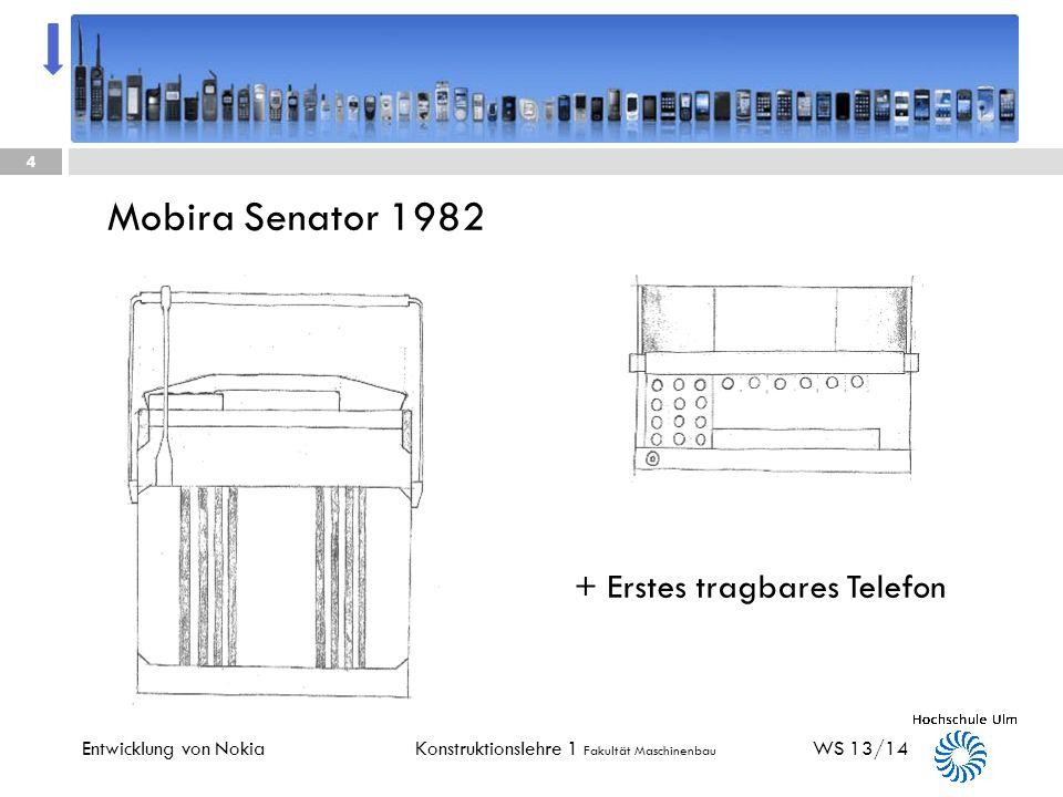 Mobira Senator 1982 + Erstes tragbares Telefon Entwicklung von Nokia