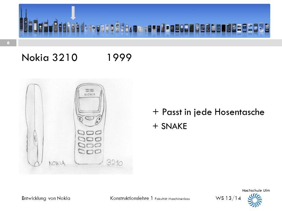 Nokia 3210 1999 + Passt in jede Hosentasche + SNAKE