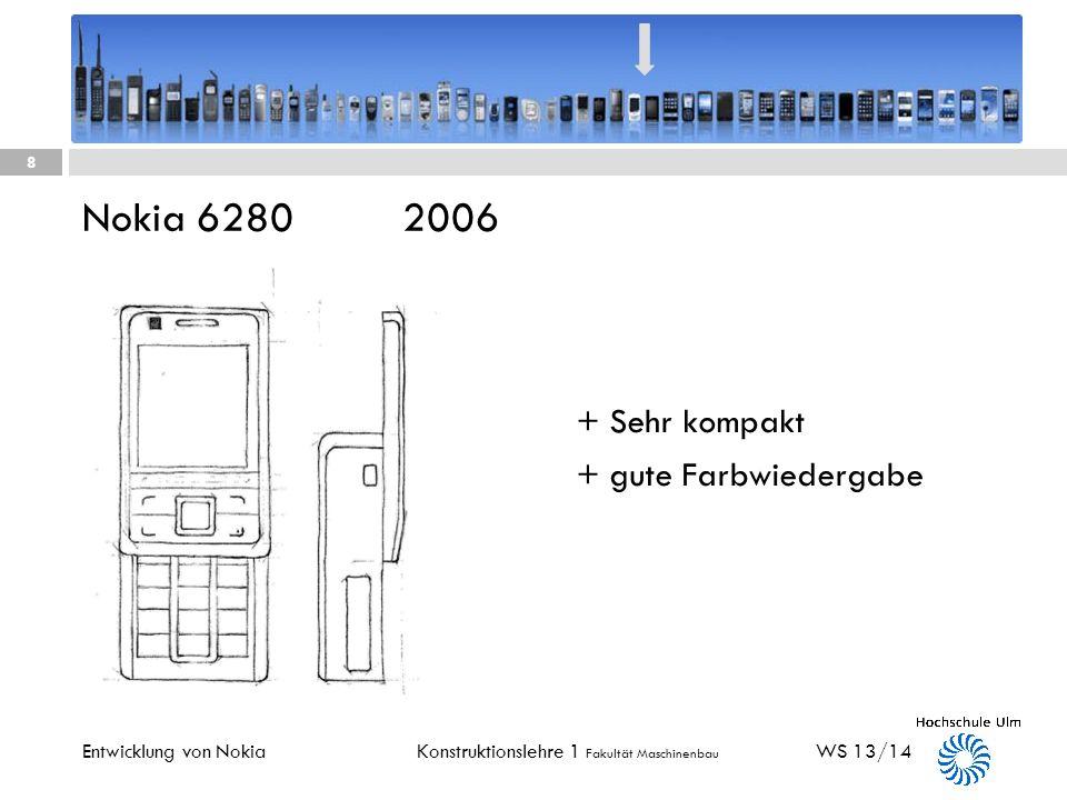 Nokia 6280 2006 + Sehr kompakt + gute Farbwiedergabe
