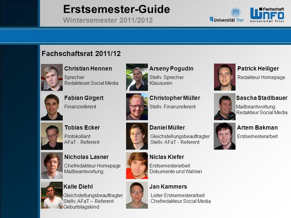 Fachschaftsrat 2011/12 Christian Hennen Arseny Pogudin