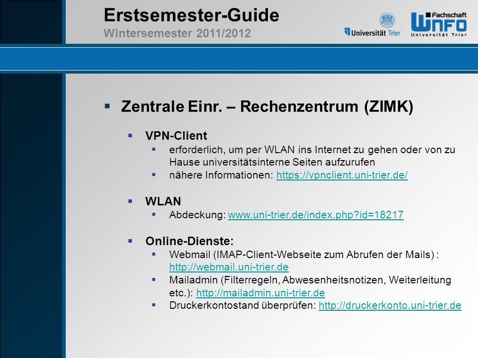 Zentrale Einr. – Rechenzentrum (ZIMK)