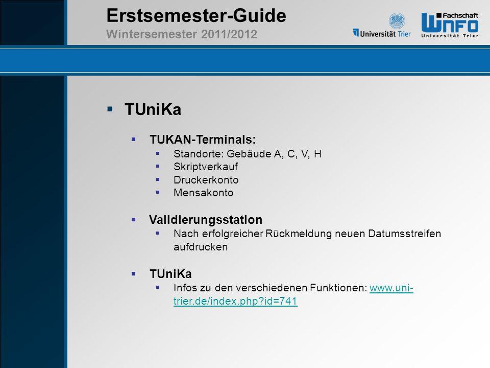 TUniKa TUKAN-Terminals: Validierungsstation