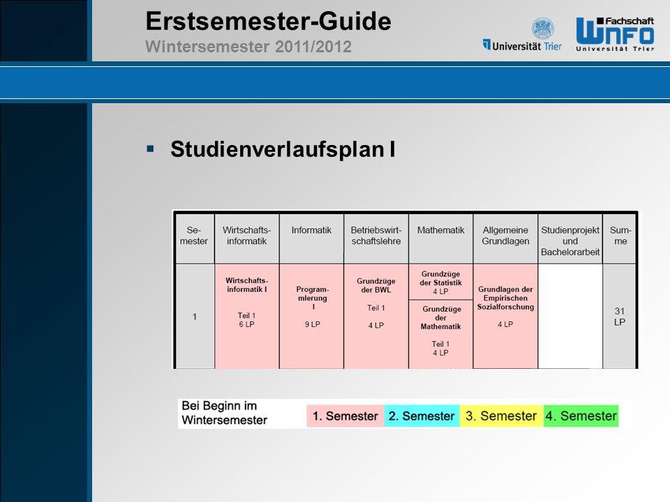 Studienverlaufsplan I