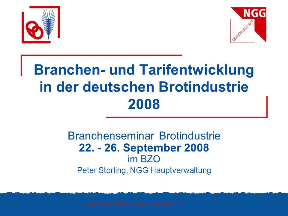 Branchen- und Tarifentwicklung in der deutschen Brotindustrie 2008