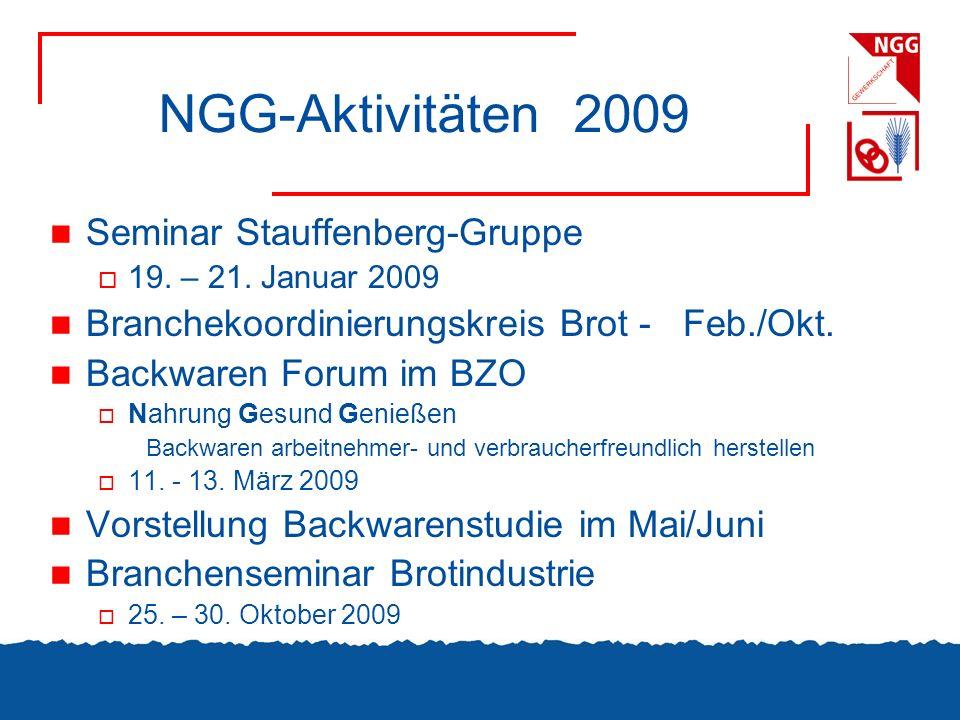 NGG-Aktivitäten 2009 Seminar Stauffenberg-Gruppe