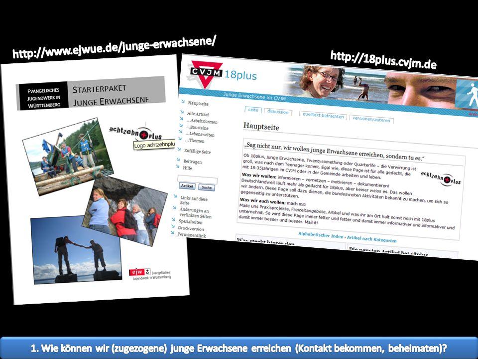 http://www.ejwue.de/junge-erwachsene/ http://18plus.cvjm.de