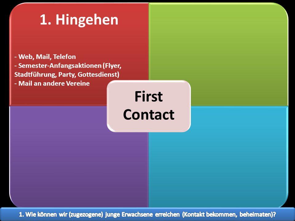 1. Hingehen - Web, Mail, Telefon