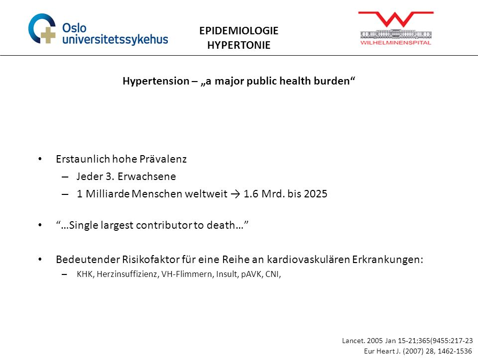 "Hypertension – ""a major public health burden"