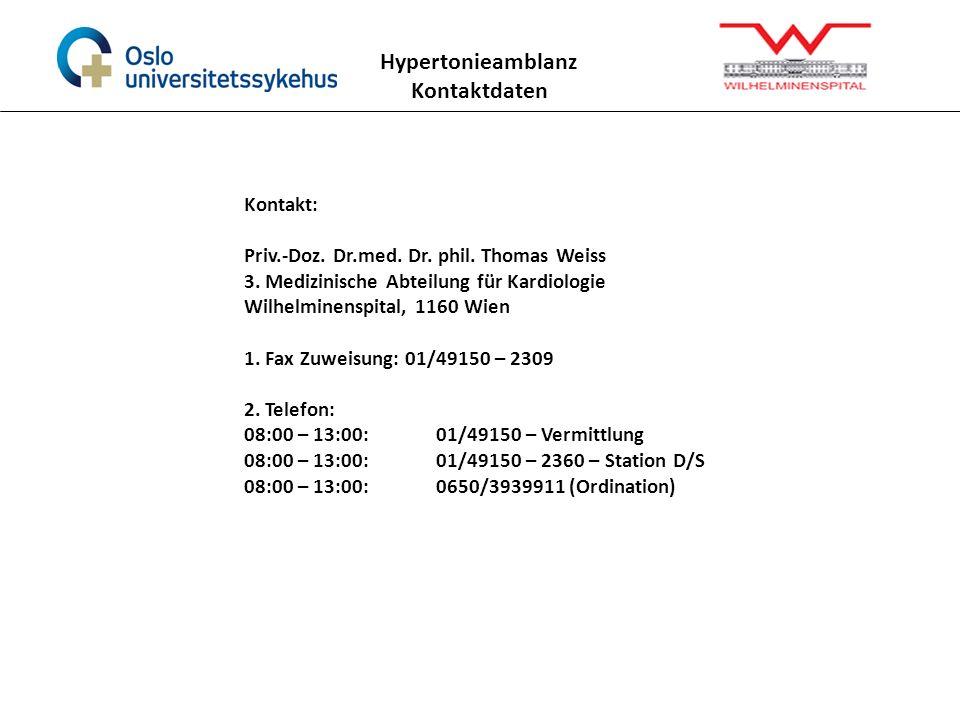 Hypertonieamblanz Kontaktdaten