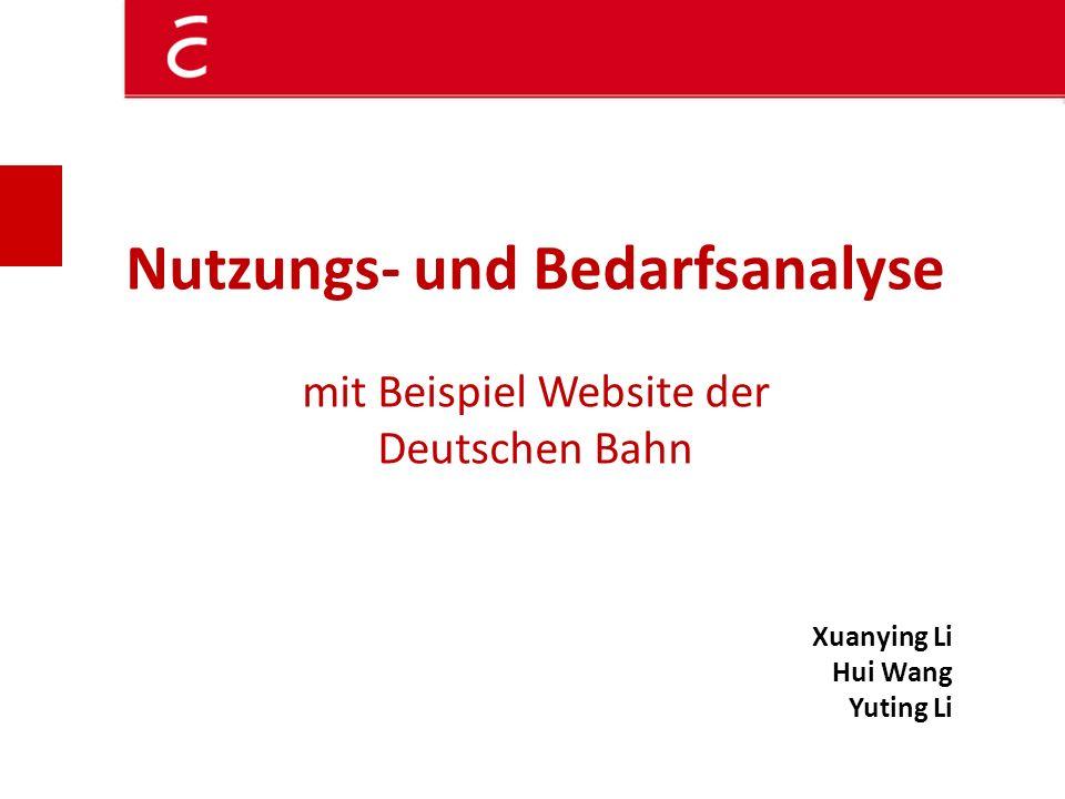 Nutzungs- und Bedarfsanalyse