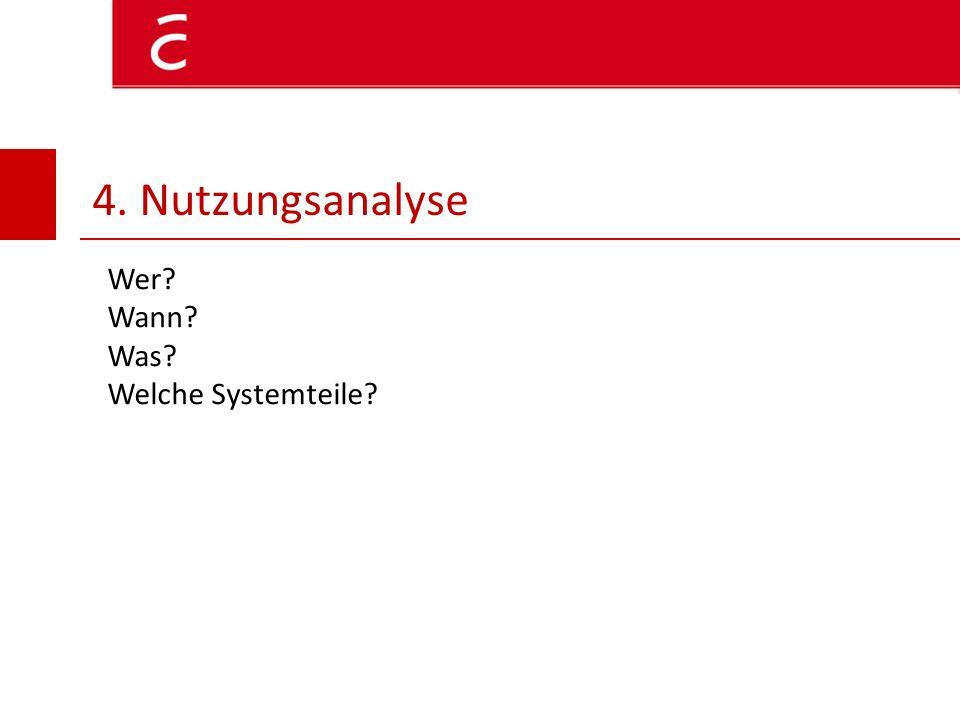 4. Nutzungsanalyse Wer Wann Was Welche Systemteile