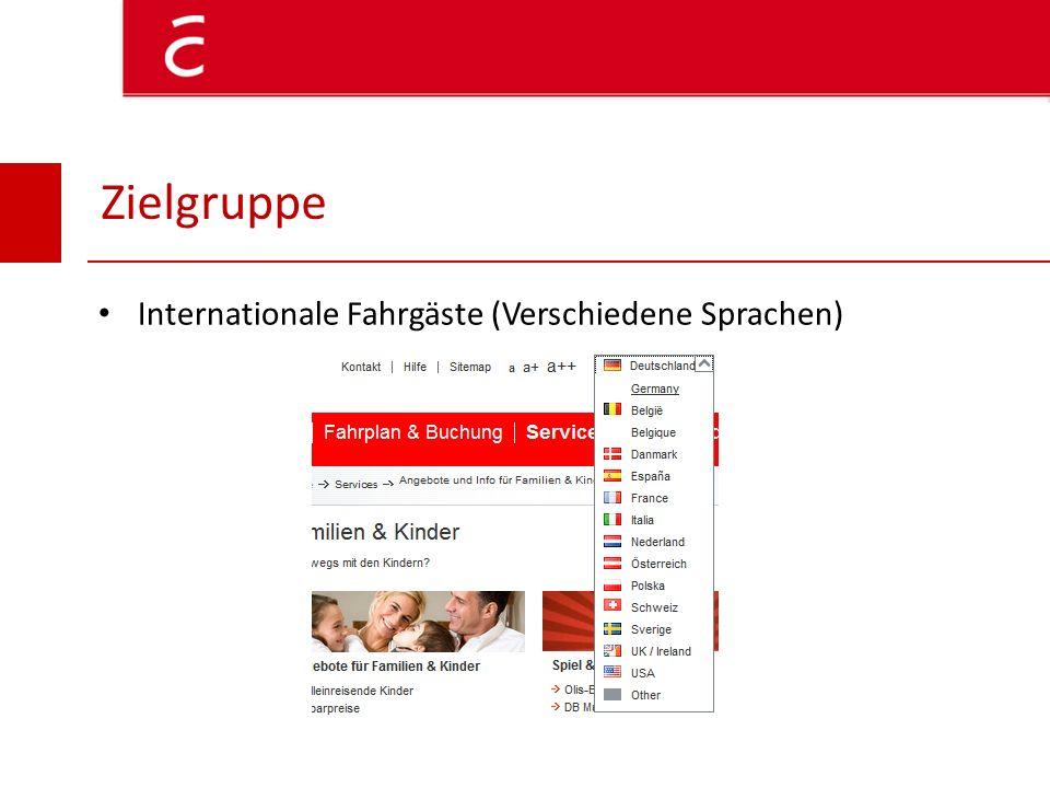 Zielgruppe Internationale Fahrgäste (Verschiedene Sprachen)