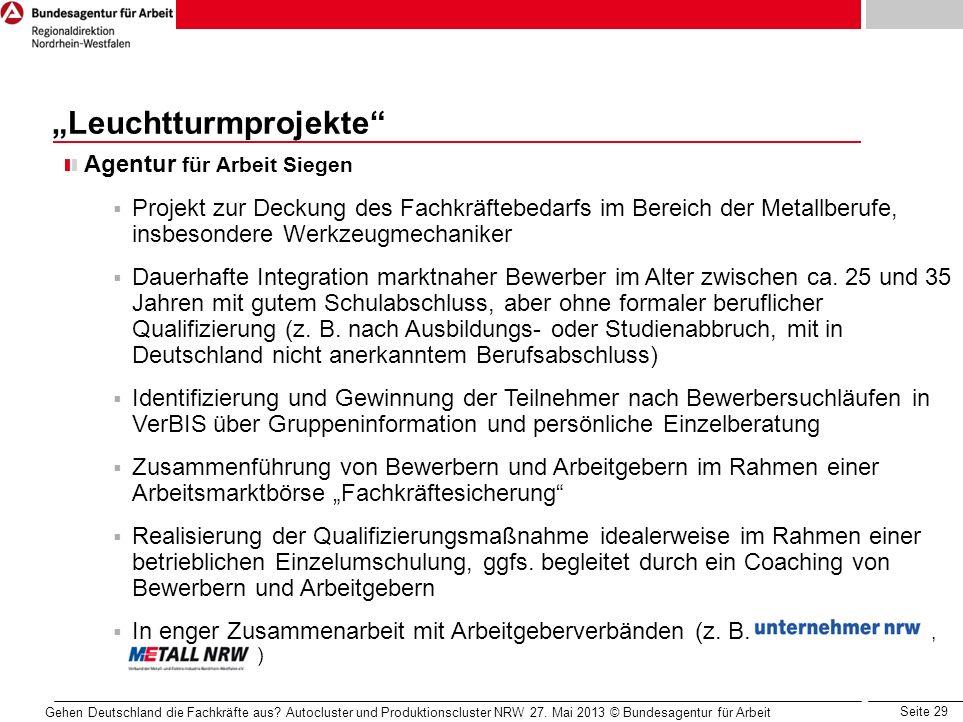 """""""Leuchtturmprojekte"""