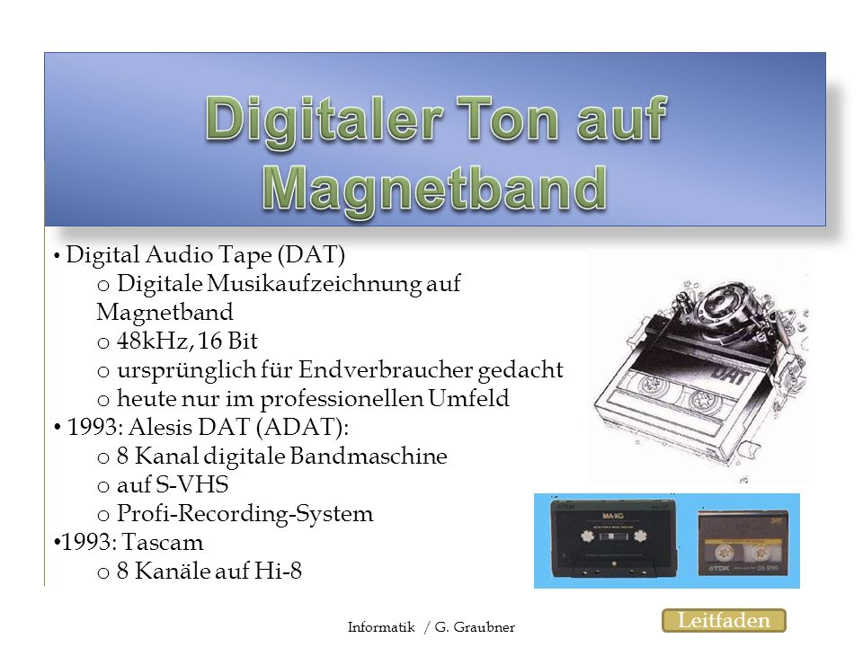 Digitaler Ton auf Magnetband