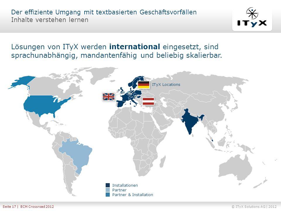 Lösungen von ITyX werden international eingesetzt, sind