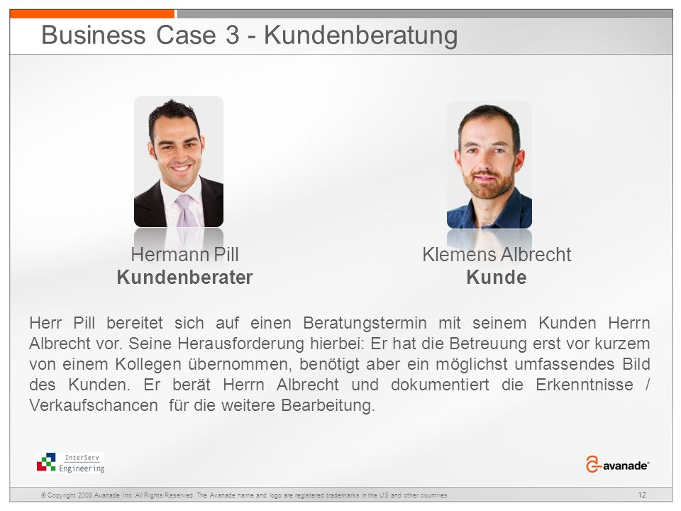 Business Case 3 - Kundenberatung