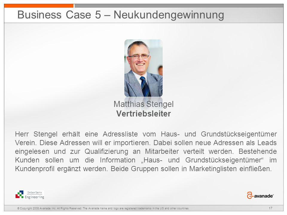 Matthias Stengel Vertriebsleiter