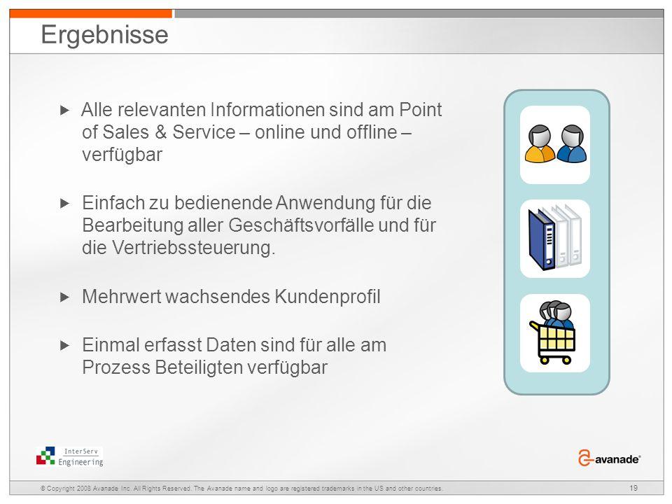Ergebnisse  Alle relevanten Informationen sind am Point of Sales & Service – online und offline – verfügbar.
