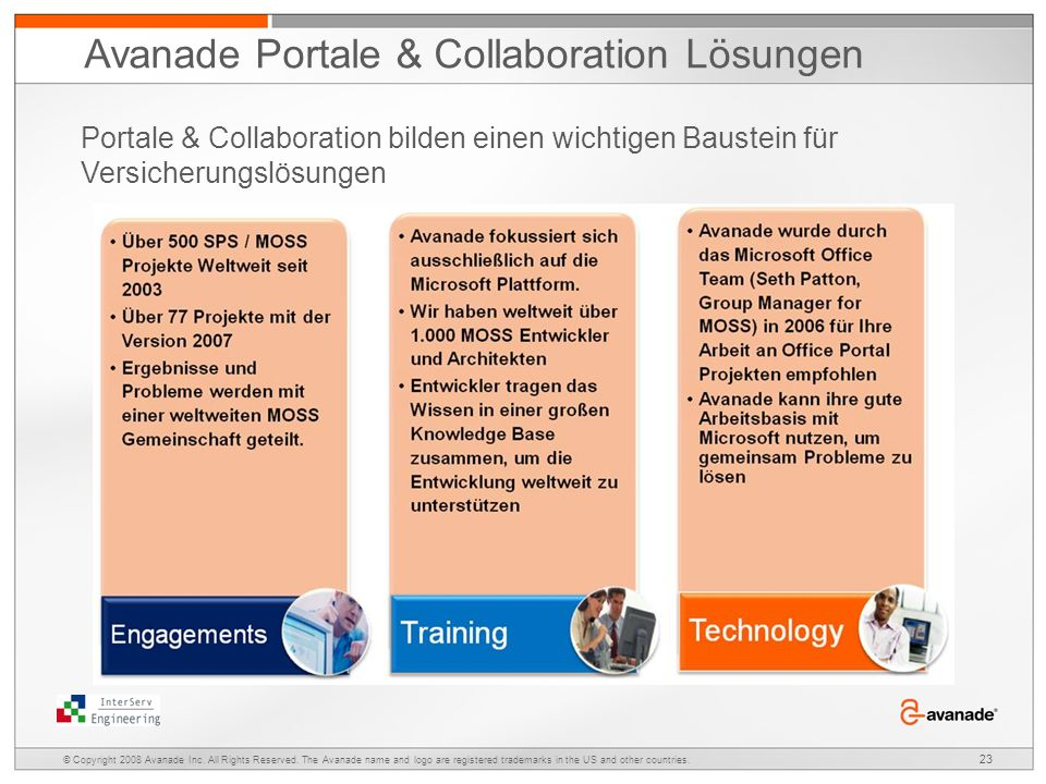 Avanade Portale & Collaboration Lösungen