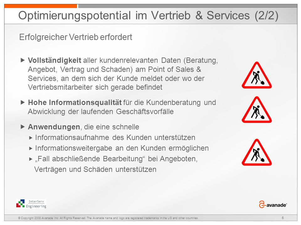 Optimierungspotential im Vertrieb & Services (2/2)
