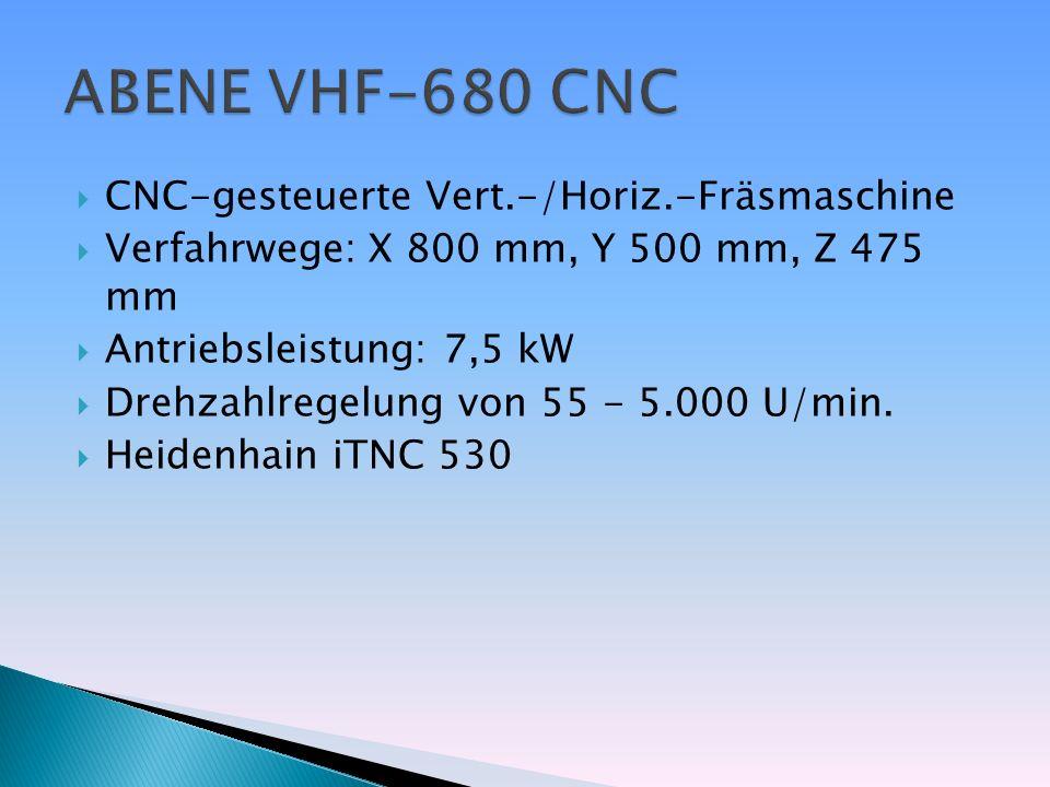 ABENE VHF-680 CNC CNC-gesteuerte Vert.-/Horiz.-Fräsmaschine
