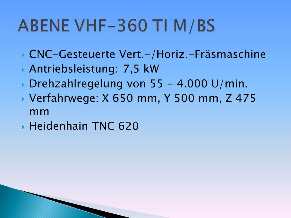 ABENE VHF-360 TI M/BS CNC-Gesteuerte Vert.-/Horiz.-Fräsmaschine