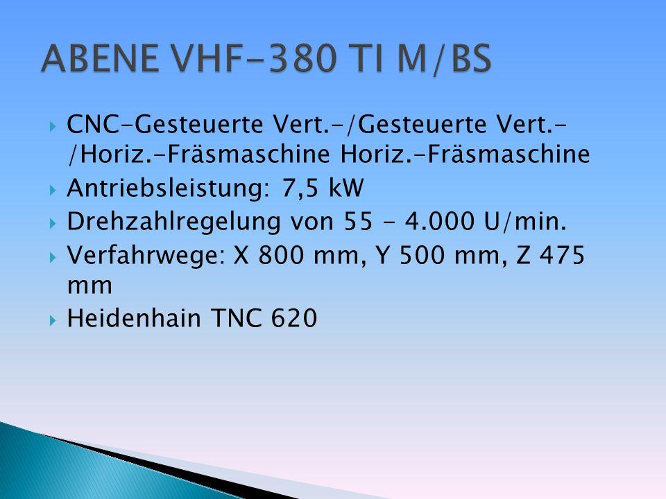 ABENE VHF-380 TI M/BS CNC-Gesteuerte Vert.-/Gesteuerte Vert.- /Horiz.-Fräsmaschine Horiz.-Fräsmaschine.