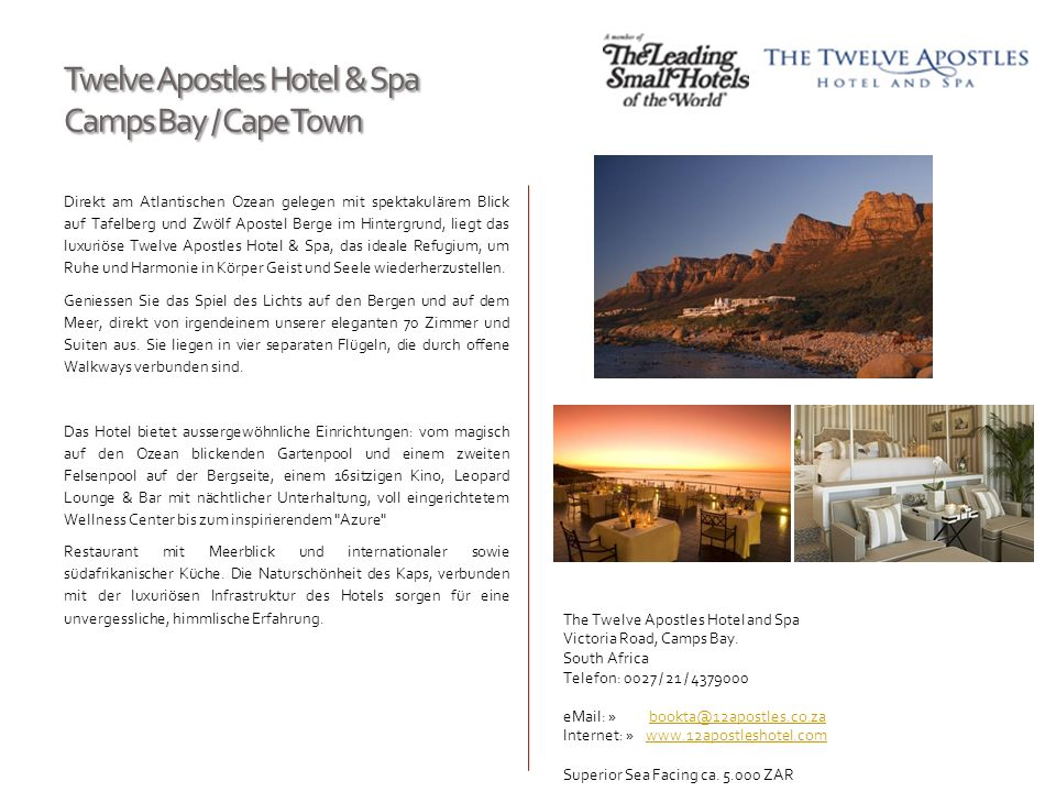 Twelve Apostles Hotel & Spa Camps Bay / Cape Town