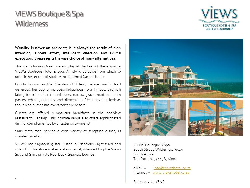 VIEWS Boutique & Spa Wilderness