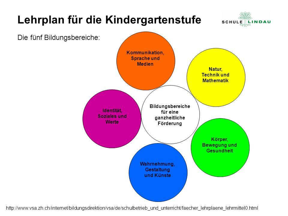 Lehrplan für die Kindergartenstufe