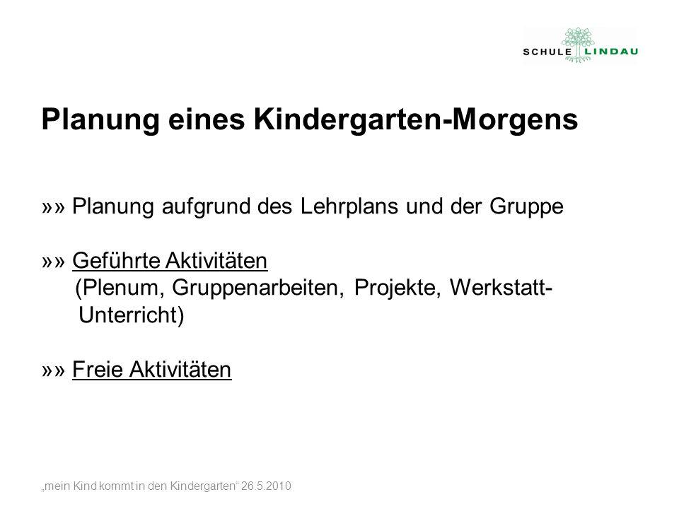 Planung eines Kindergarten-Morgens
