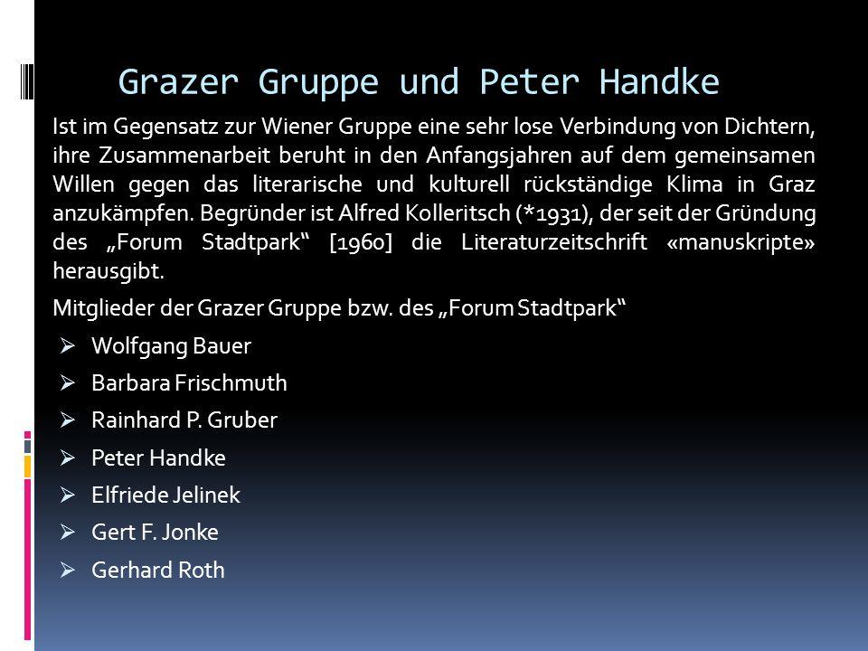Grazer Gruppe und Peter Handke