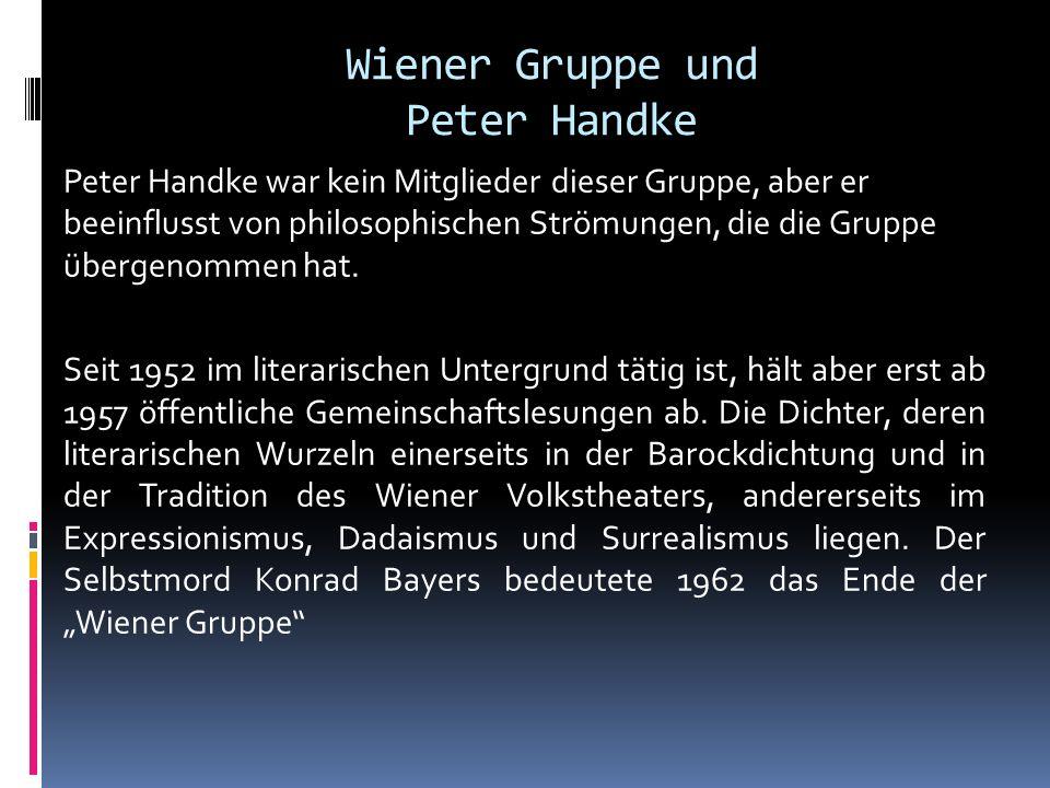 Wiener Gruppe und Peter Handke