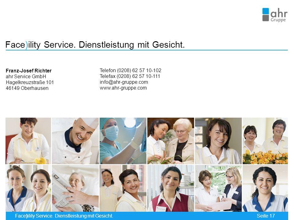 Face)ility Service. Dienstleistung mit Gesicht.