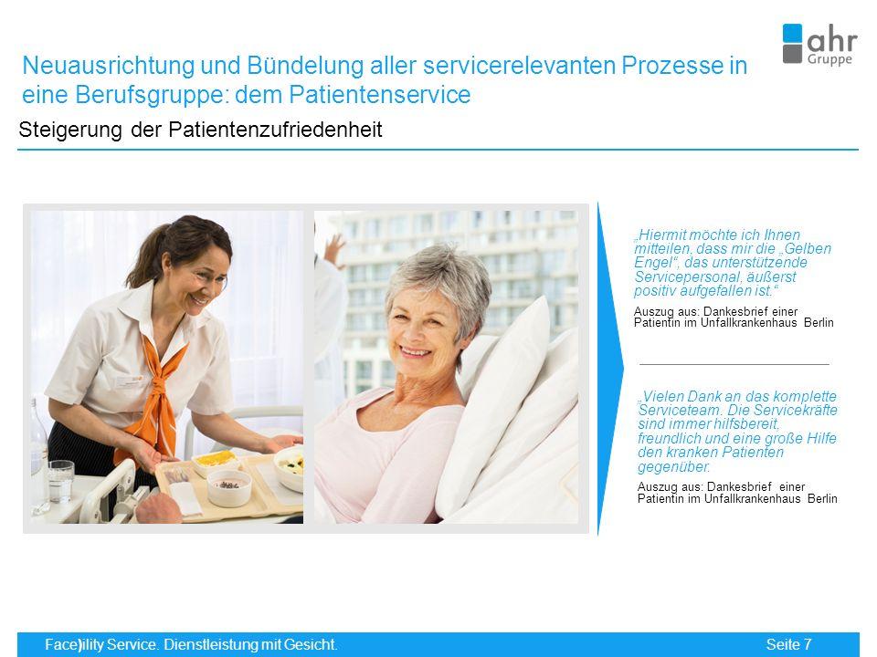 Neuausrichtung und Bündelung aller servicerelevanten Prozesse in