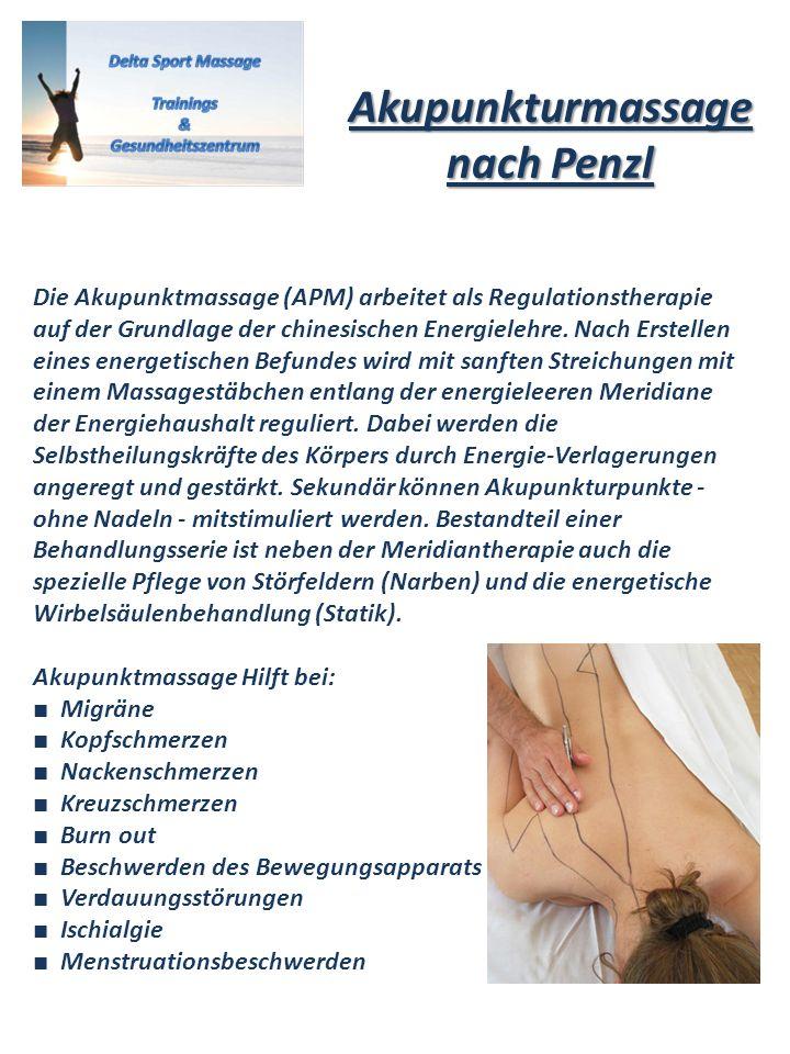 Akupunkturmassage nach Penzl